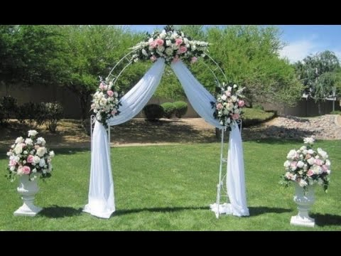Diy wedding arch decoration ideas youtube for Arch decoration pictures