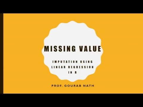 Missing Value - Imputation Uing Simple Linear Regression Using R