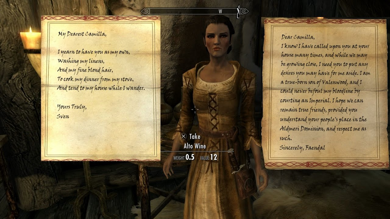 Skyrim A Lovely Letter sidequest all out es