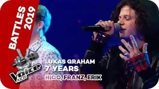 Lukas Graham - 7 Years (Nico, Franz, Erik)    Battles   The Voice Kids 2019   SAT.1