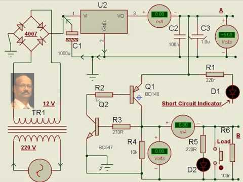 Practical Electronics Mini Project DC power supply short circuit ...