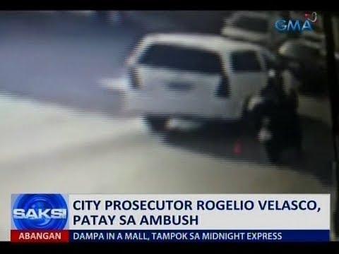 Saksi: City prosecutor Rogelio Velasco, patay sa ambush