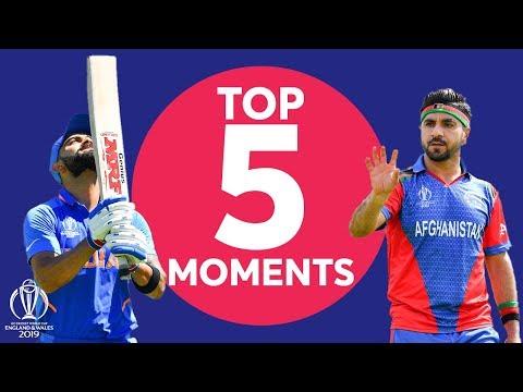 Shami? Kohli? | India Vs Afghanistan - Top 5 Moments | ICC Cricket World Cup 2019