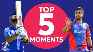 Shami? Kohli? | India vs Afghanistan - Top 5 Moments | ICC Cricket World Cup 2019