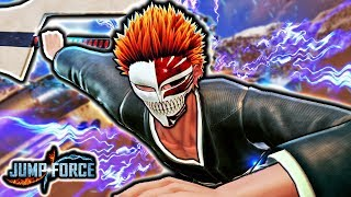 NEW CLASSIC HOLLOW ICHIGO IN JUMP FORCE! Visored Ichigo Hollow Mask Transformation Gameplay Mod
