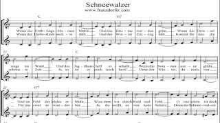 Schneewalzer instrumental - karaoke