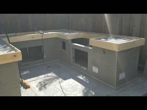 How to make pour in place Concrete countertops on my bbq island #5