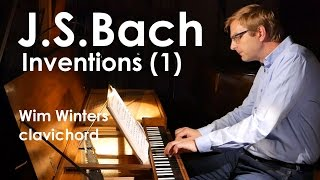 Wim Winters plays Bach Inventions n°1-3 on clavichord