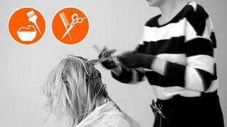 Женская стрижка и окрашивание волос Women s haircut and hair coloring