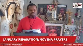 JANUARY REPARATION PRAYERS/NOVENA (THURSDAY)