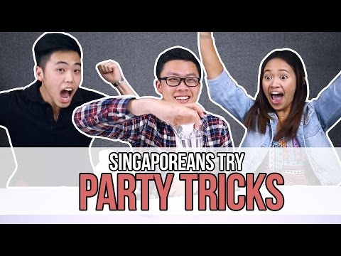 Singaporeans Try: Party Tricks (feat. The Bottle Flip Challenge)