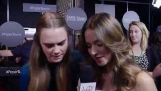 cara delevingne sussan mourad fall in love and exchange spit papertowns premiere red carpet