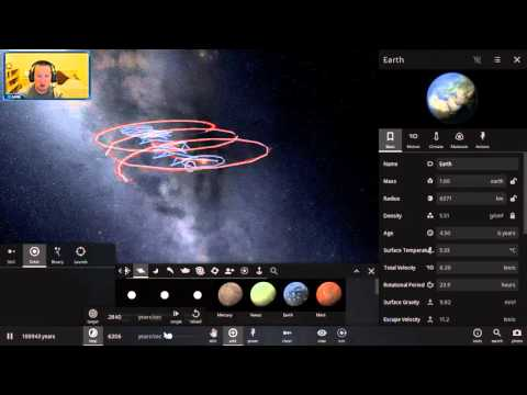 Universe Sandbox 2 - Triple Star System with Habitable Planets
