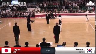 Highlights-FINAL(JPN-KOR) - 16th World Kendo Championships -  Men's Team_Final Tounament 遊佐克美 検索動画 25