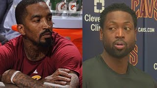 J.r. smith angry with dwyane wade taking his starting spot & frustrated with sitting on cavs bench