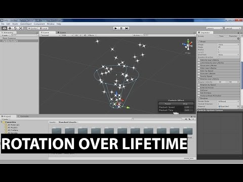 Unity's Shuriken Particle System: Rotation over Lifetime