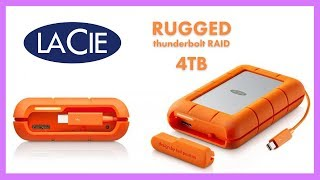 LaCie Rugged thunderbolt RAID 4TB Review I best hard drive setup and unboxing