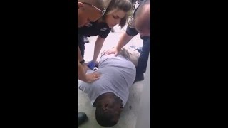 NYPD Cops choke Black man to death for selling a 50 cent Cigarette ! ... Extended Footage thumbnail