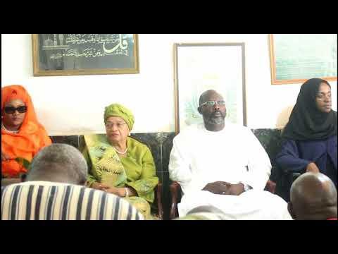 Muslims in Liberia offer prayer for George Weah, President Ellen Johnson Sirleaf