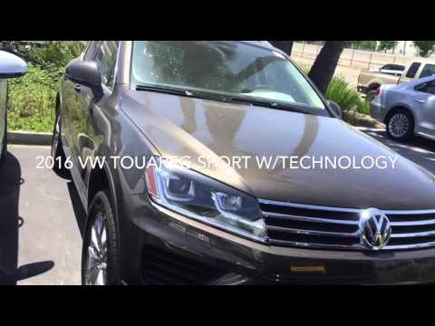 A new 2016 VW Touareg with technology Review