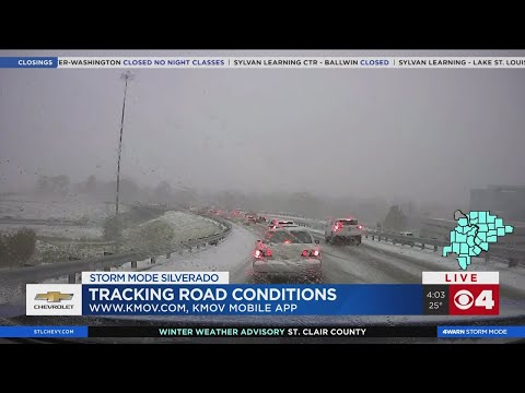 Dozens Of Crashes Reported In St. Louis Area As Snow Blankets Roads
