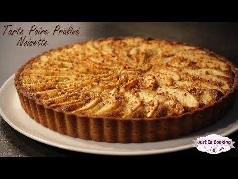 recette-de-tarte-poire,-praliné,-noisette