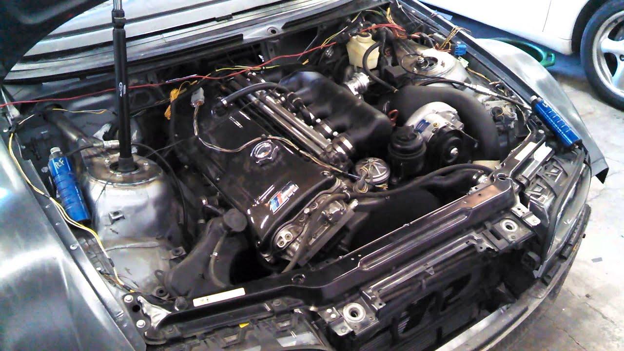 E46 M3 Starter Wiring Diagram 2006 Honda Civic Hybrid Bmw First Start With Custom Harness Youtube