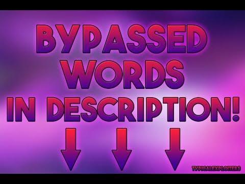 Paste Bin Words In Roblox - 0425
