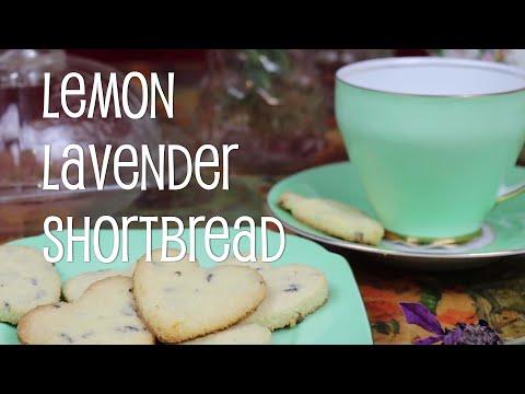 Sugar Free Gluten Free Lemon Lavender Shortbread
