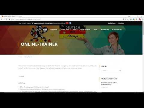 Kostenlose Online Übungen A1 A2 B1 B2 C1 C2!