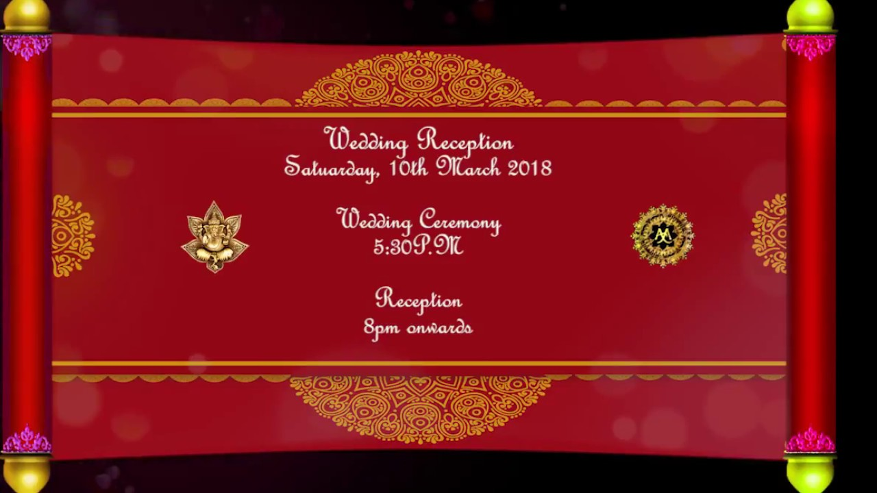 royal red style wedding invitation for whatsApp - YouTube