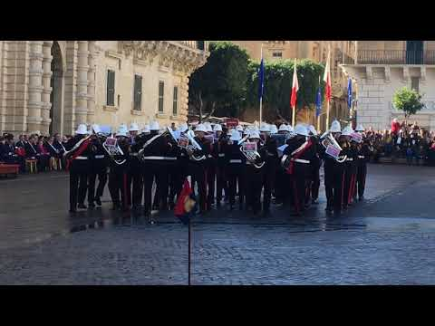 Trooping the Presidential Colour - Republic Day of Malta 2017