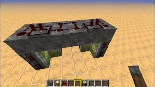 Minecraft 1.7.9 most compact hidden piston door tutorial.