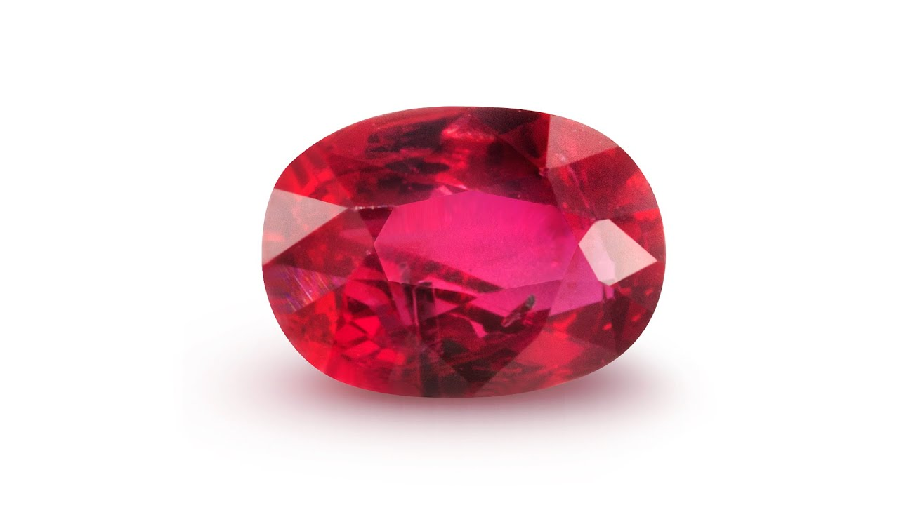 ruby gemstone only on kalkifashion stone adorn kalki studs with diamond center