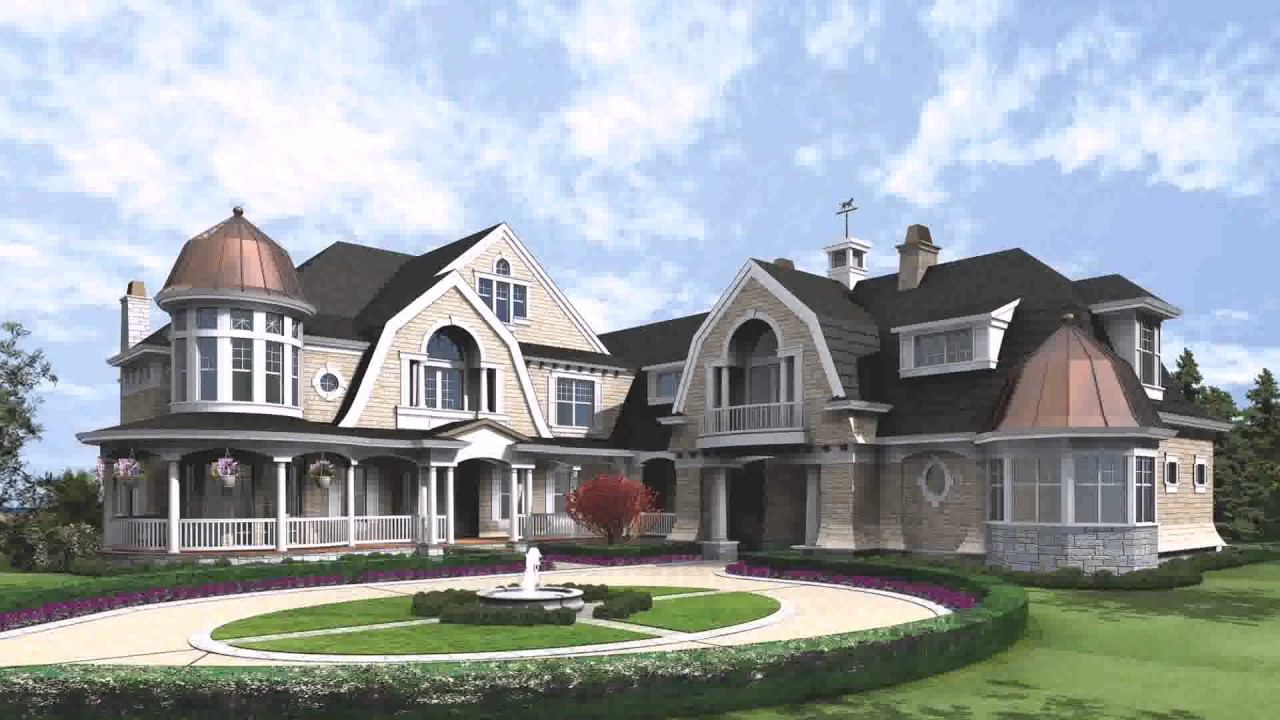 Shingle Style Cape Cod House Plans - YouTube