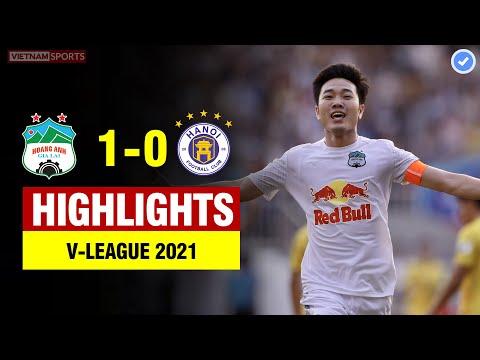 Highlights HAGL vs Hà Nội   Xuân Trường nã đại bác sấm sét gần 30M, Hồng Duy ăn cùi trỏ đau đớn