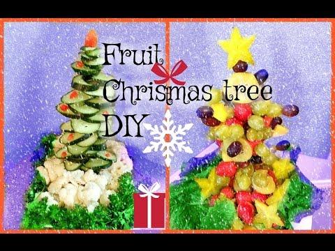 CHRISTMAS TREE FRUIT DIY TABLE DECORATION IDEA