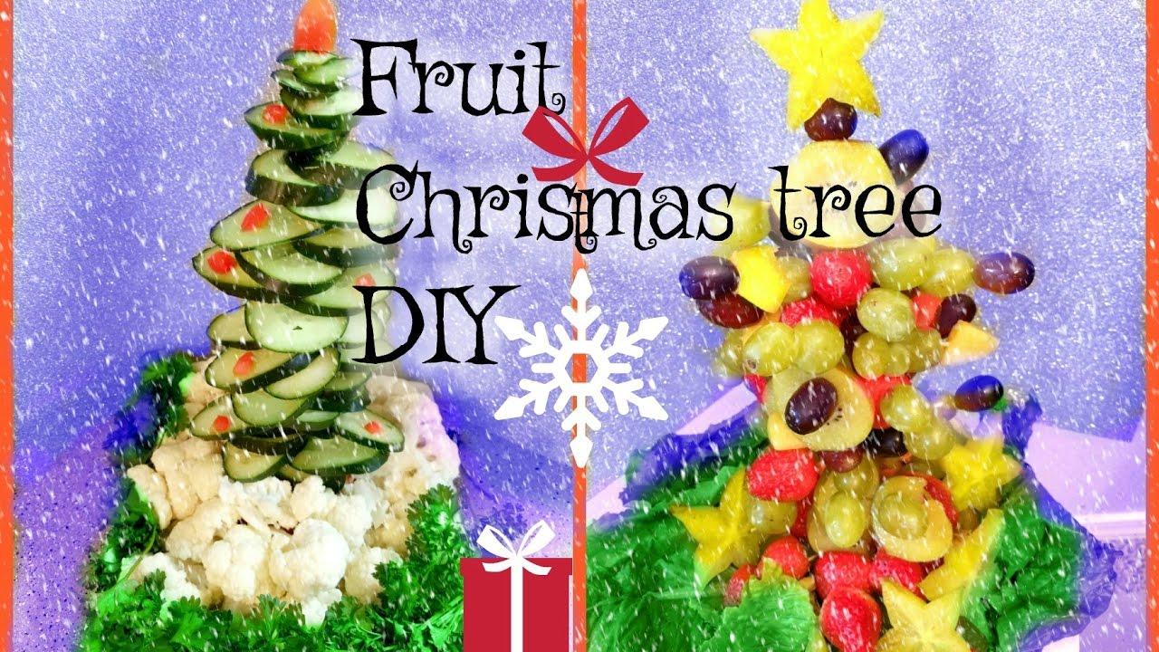 Christmas Tree Fruit Ornaments.Christmas Tree Fruit Diy Table Decoration Idea