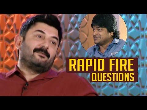 Aravind Swamy Superb Answers To Harish Shankar Questions | Rapid Fire | TFPC