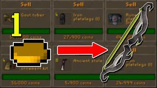 I Have One Year to Earn a Twisted Bow from 1gp... Or Else! Flipping 1gp to Twisted Bow #1 [OSRS]