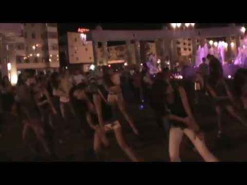 Флешмоб в Жезказгане. 8.08.2012. Дубль 2