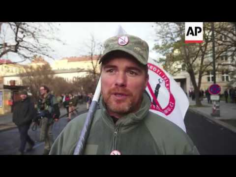 Anti-Islam protest held on anniversary of Velvet Revolution