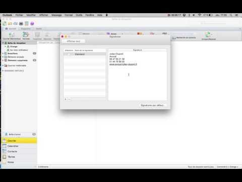 Comment changer la signature email de ma messagerie Outlook pour Mac