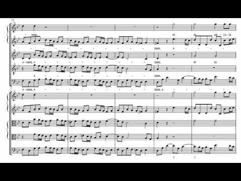 10.- Gloria Patri (Dixit Dominus - G. F. Händel) Score Animation