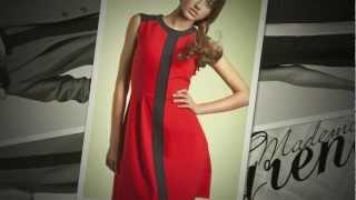 Robe cintrée, sans manches, bicolore - Mademoiselle Grenade