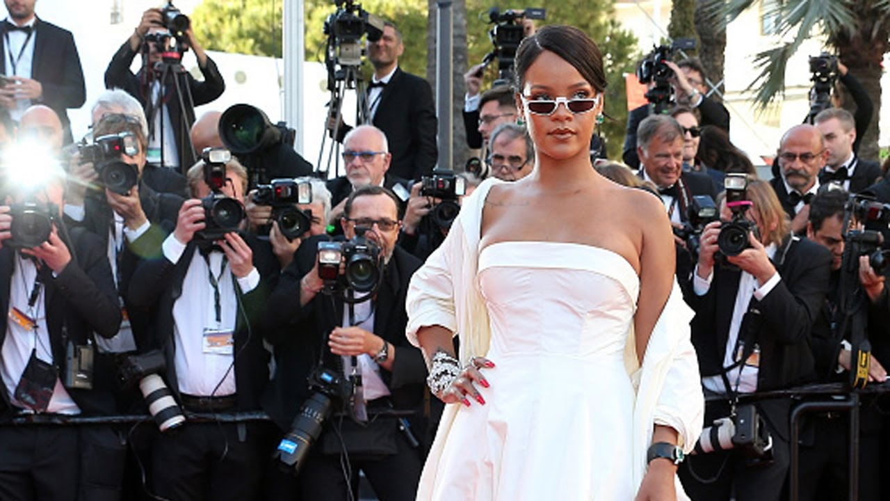 Rihanna attends the 70th annual Cannes Film Festival