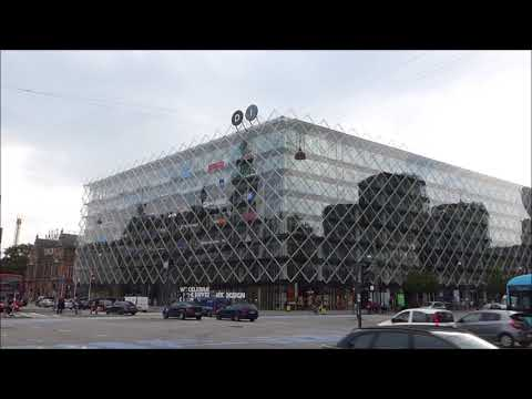 Architecture around Copenhagen City Hall Square