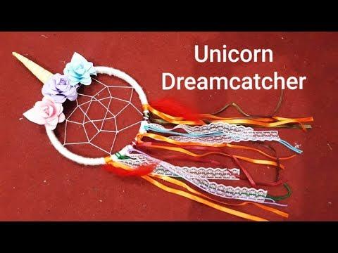 DIY Unicorn Dreamcatcher //Easy way to make// CreativeFari