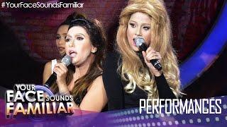 Your Face Sounds Familiar: Kakai Bautista and Maxene Magalona as Ariana Grande and Iggy Azalea