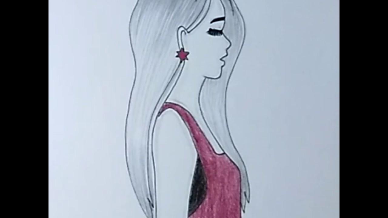 رسم بنات كيوت رسم سهل تعليم رسم بنت سهل بطريقة سهلة وبسيطة رسم